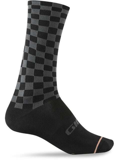 Giro Comp High Rise Socks Unisex charcoal/peach